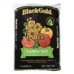 black gold garden soil