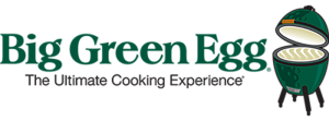 Big Green Egg logo. The Ultimate Cooking Experience