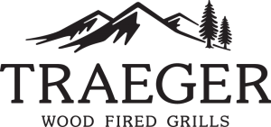 Trager logo. Wood fired grills.