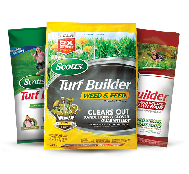 Scotts turf builder weed and feed and lawn food