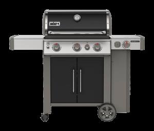 A black Traeger grill