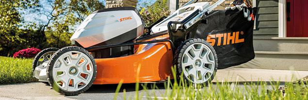A Stihl lawn mower.