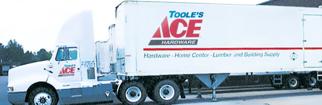An image of a Toole's Ace Delivery truck.