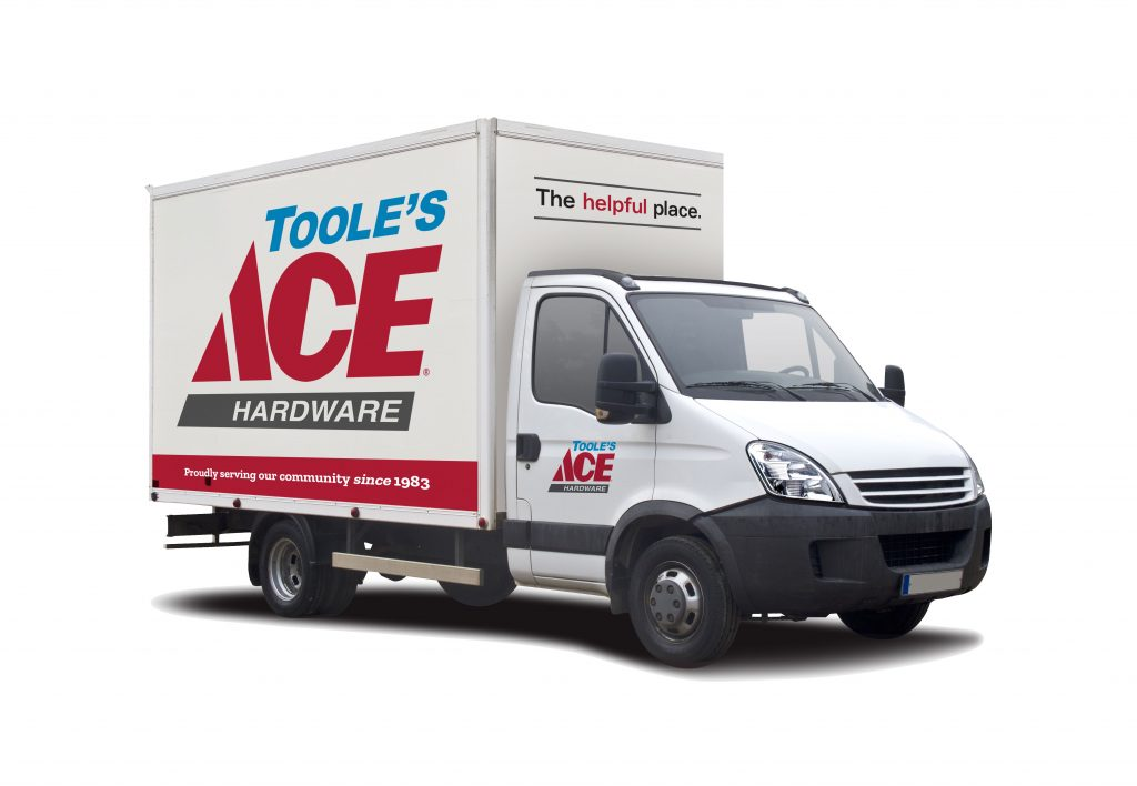 A Toole's Ace Hardware deliver truck.